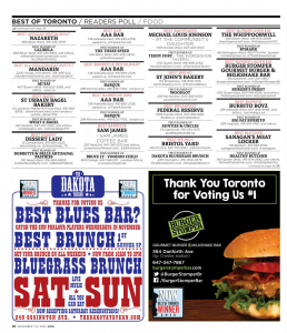 Voted #1 in Best of Toronto -Now Magazine